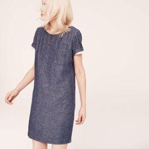 Lou & Grey Ann Taylor Loft Tee Dress Shift Denim